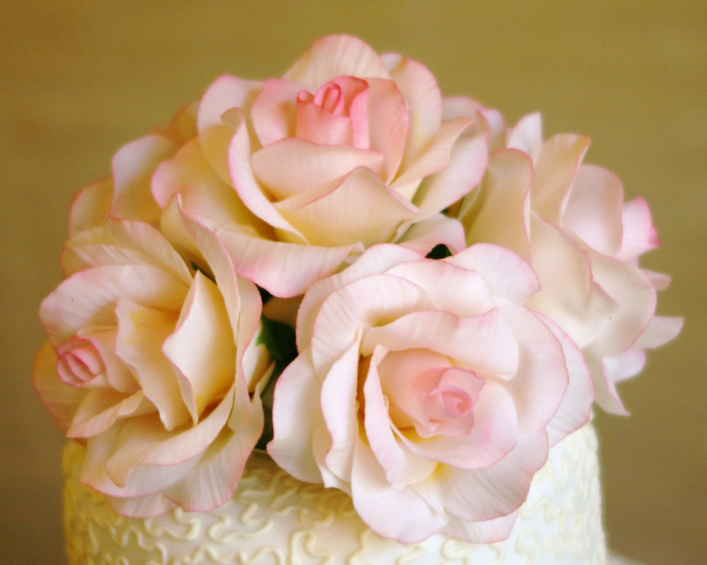 how to make sugar roses for wedding cakes pink sugar roses on top of cornelli lace wedding cake 15999