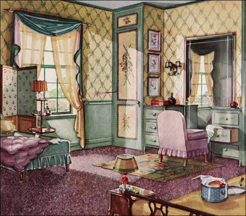 1930 bedroom armstrong linoleum flickr photo sharing for Armstrong design a room