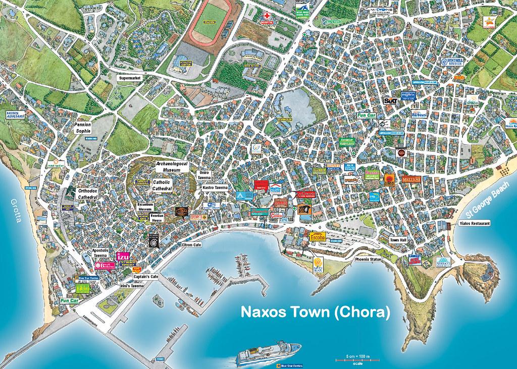 naxos town map