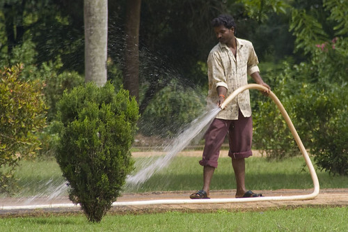 Indian Palace Gardener With Fire Hose Flickr Photo