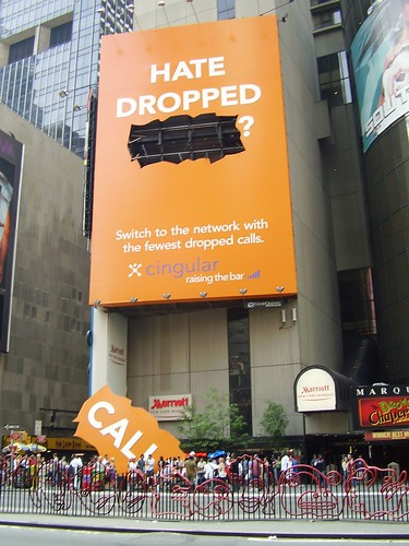 """Hate dropped calls?"" Cingular ad 