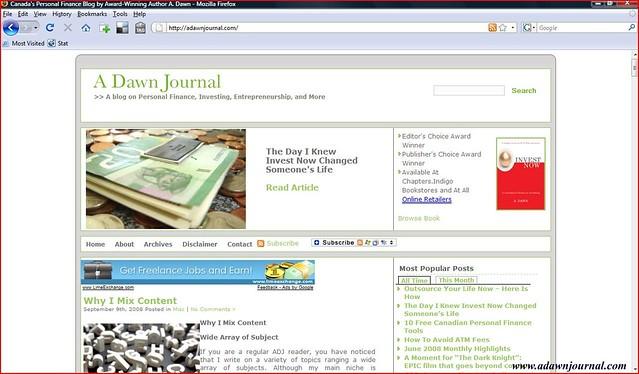 canada s personal finance blog a dawn journal a screensh flickr
