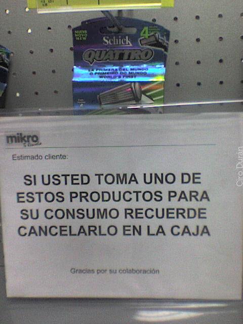 Recuerde si lo consume lo debe cancelar | Humor sin ...