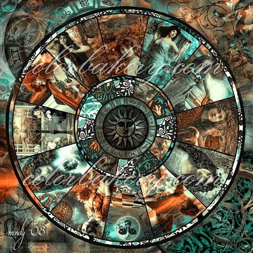 Zodiac Wheel Art Nouveau This Is The Zodiac Wheel That