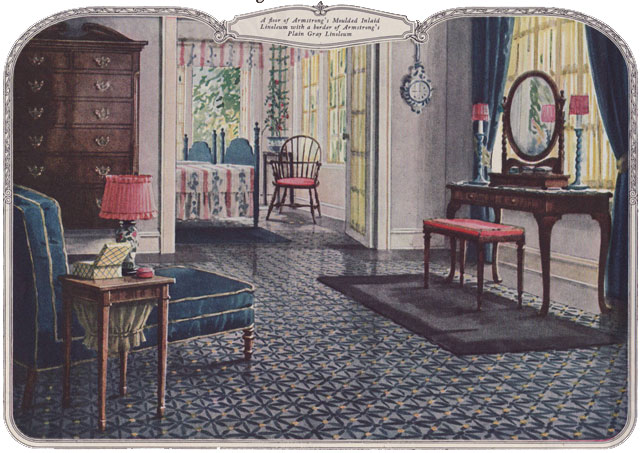 1924 Bedroom Armstrong Floor Ad Wonderful Traditional Be Flickr