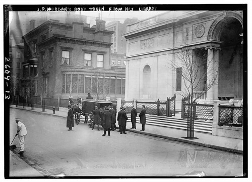 J.P. Morgan's body taken from his library  (LOC) | by The Library of Congress