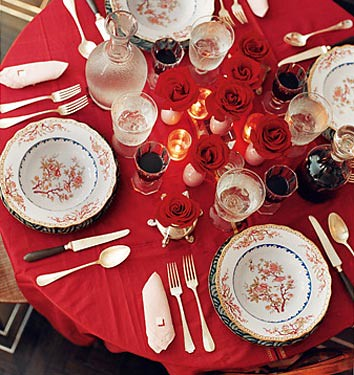 Holiday Decor Ideas Miles Redd 39 S Luxe Red Table Setting