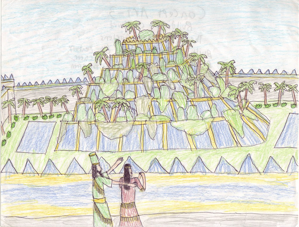 The Hanging Gardens Of Babylon This Illustration Depicts T Flickr