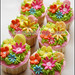Cheerful Flowers Cupcakes - Maki Cakes