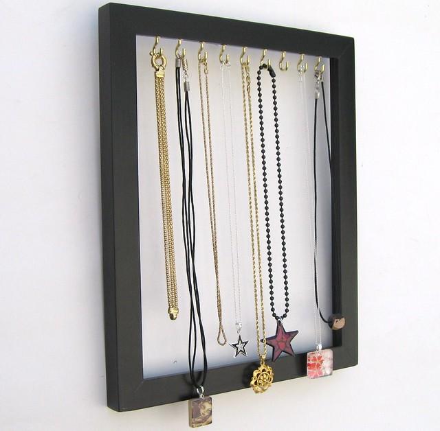 Custom Jewelry Display Frame: Necklace And Bracelet Display Frame