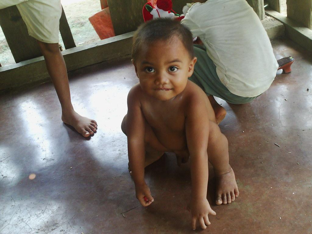 child naked