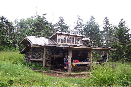 The Camping Shelter On Top Of Mt Leconte Several