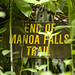 End of Manoa Falls Trail