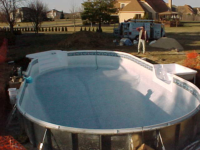 Inground swimming pool kit this is an aluminum inground for Cheap inground pools