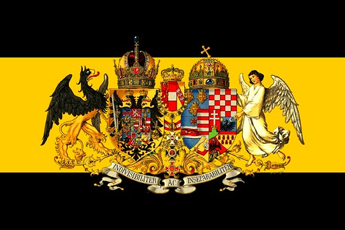 United Danubian Empire Greater Arms Flag Fictional