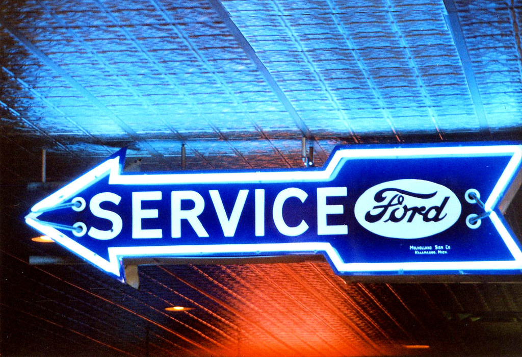 Ford Motor Company A Classic Ford Motor Service Sign