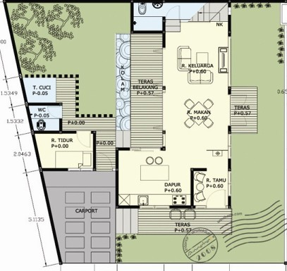 gambar desain rumah/villa munggil denah lantai 1 | this
