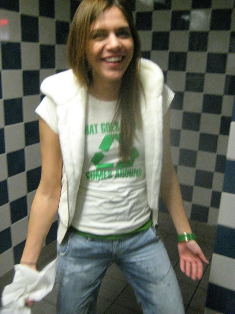 Lesbian secretary with strap-on dildo