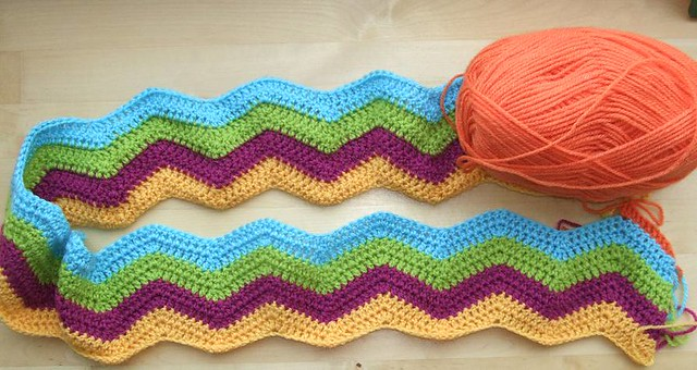 Ripple Stitch Afghan Crochet Free Pattern Easy Ripple A Flickr