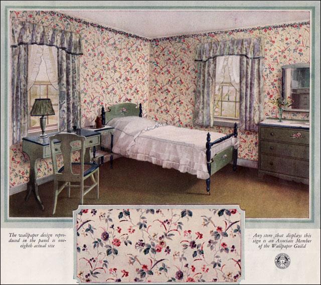 1925 wallpaper guild ad bedroom this ad by the wallpaper flickr rh flickr com 1925 bedroom furniture Rust and Blue Bedroom