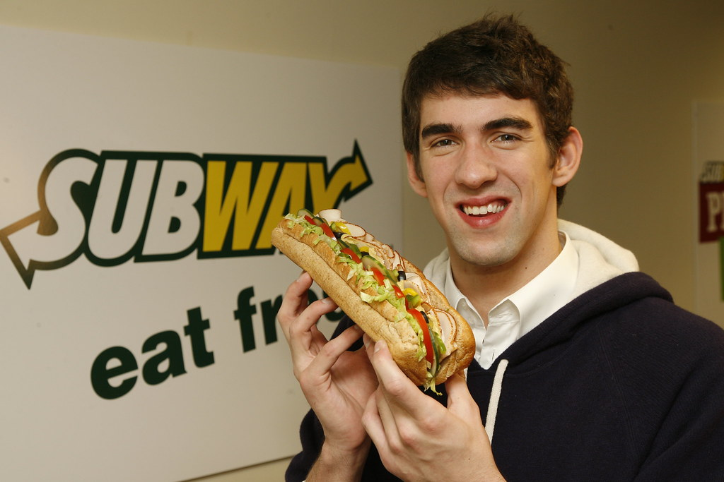 Michael Phelps Posing With Footlong