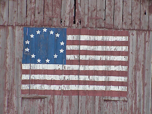 Betsy Ross Flag Painted On A Barn A Faded 13 Star Quot Betsy