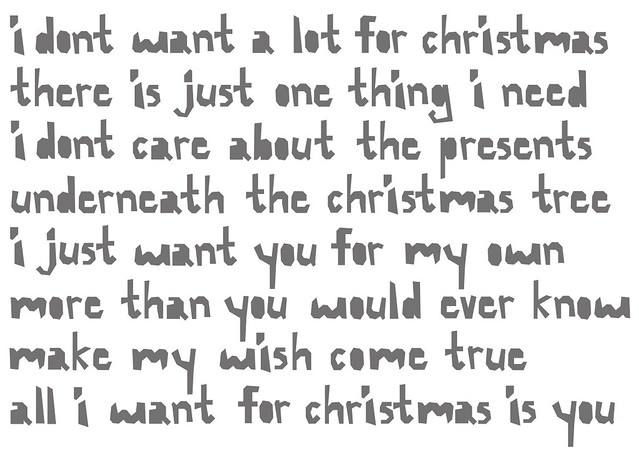 all i want for christmas is you by ingridesign - I Dont Want Alot For Christmas Lyrics
