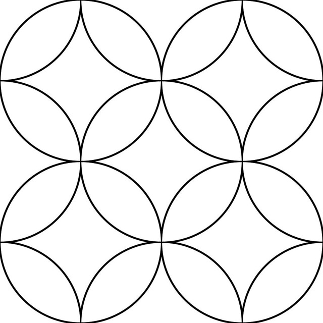 interlocking circles pattern for colorization