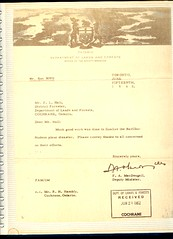 Barilko Letter sent to DOLF | by Mike Boon