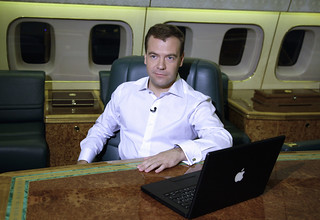 Medvedev and his Macbook | by scriptingnews