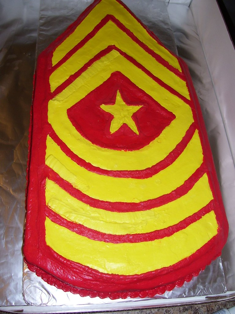 Sgt Major E 9 Rank Promotion Usmc Cake This Is A Full