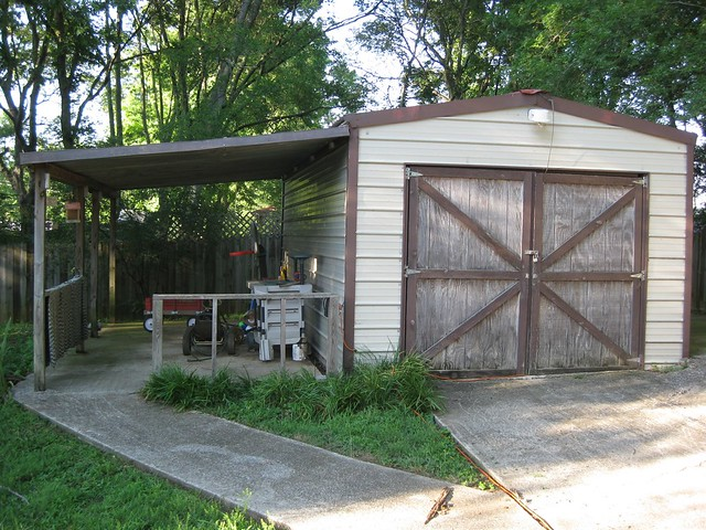 Garage and lean to back in shape cj sorg flickr for Garage with lean to