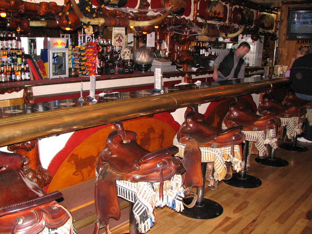 The Million Dollar Cowboy Bar In Jackson Wyoming In