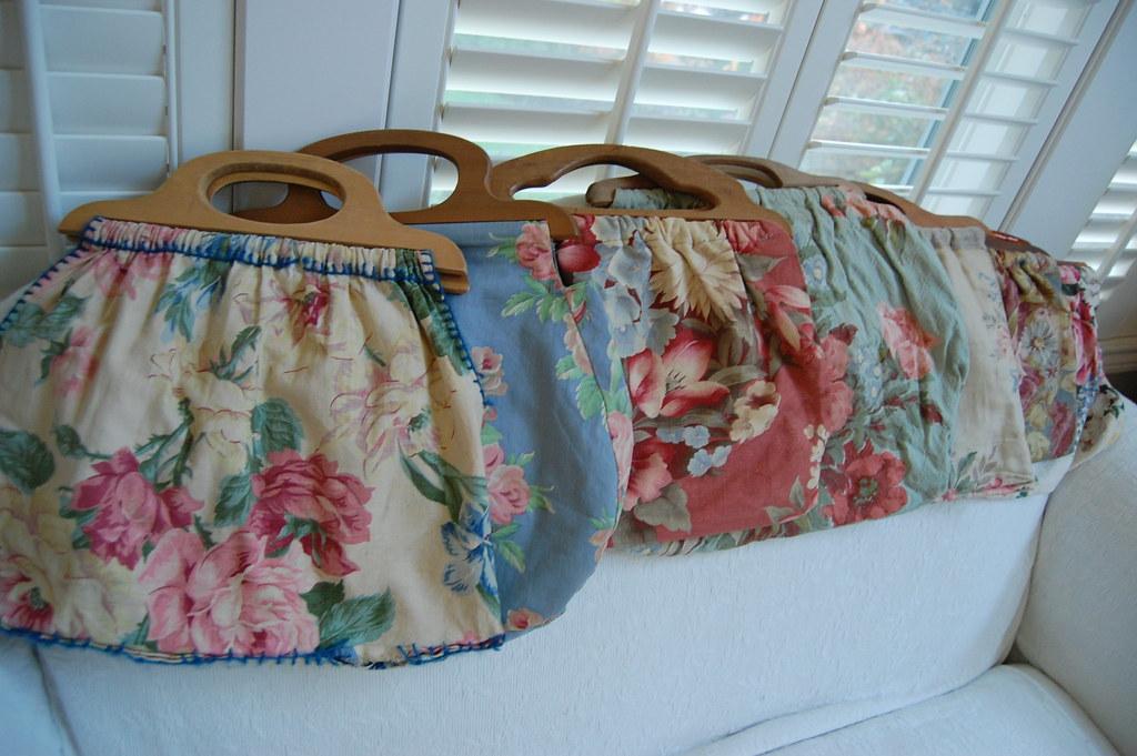 Vintage Knitting Bag : Vintage barkcloth knitting bags isabel lang flickr