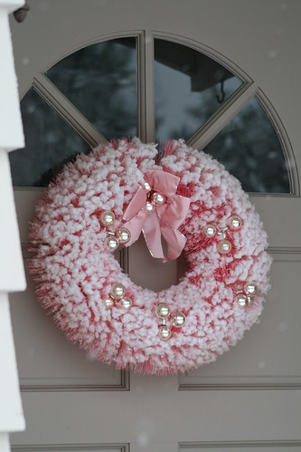 Vintage Pink Bottle Brush Wreath | by cherished*vintage