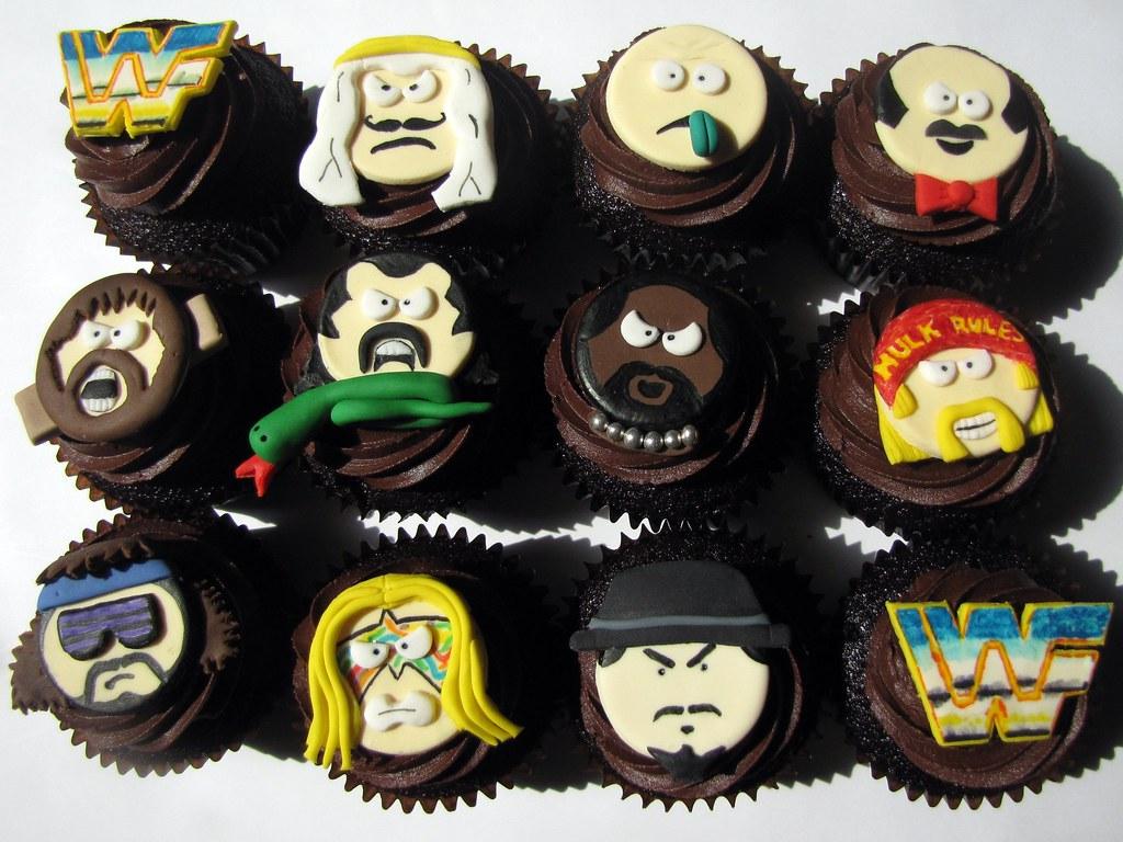 Old School WWF Cupcake...