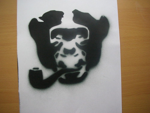 Monkey Stencil Monkey Stencil | by Dan