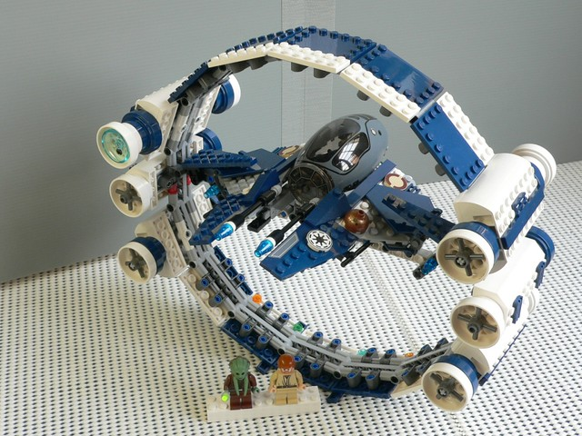 ... Star Wars Lego 7661 Jedi Starfighter with Hyperdrive Ring 02 | by  KatanaZ