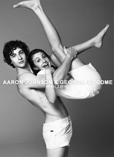 aaron johnson and georgia groome relationship test