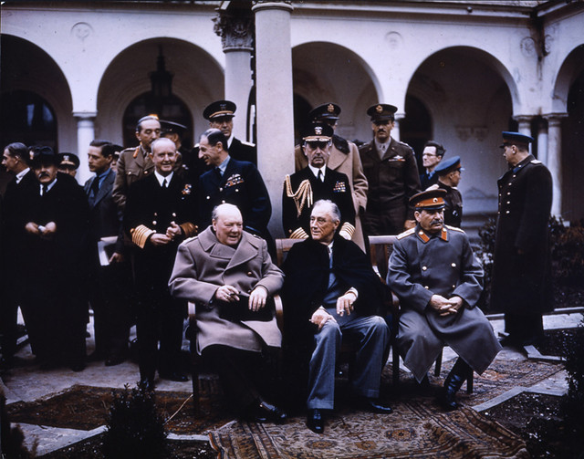 The Big Three At Yalta Description Yalta Conference Crim Flickr