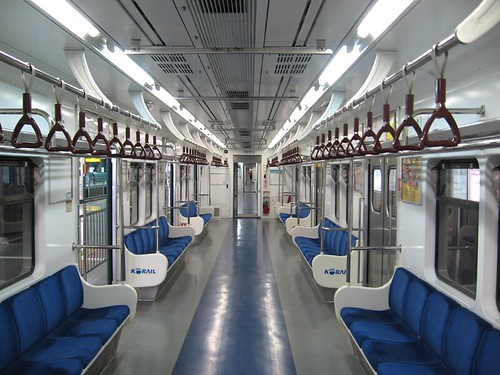 empty car on seoul metro line 1 1 yangju station