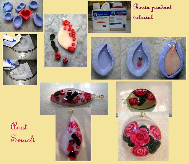Polymer clay resin pendant tutorial anat shmueli flickr polymer clay resin pendant tutorial by anat shmueli aloadofball Images