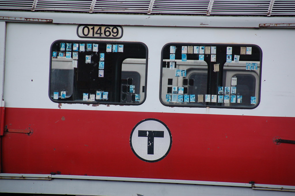 Where Old Mbta Red Line Cars Go To Die The Stickers In
