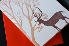 Rudolph A6 letterpressed christmas card | by Dingbat Press