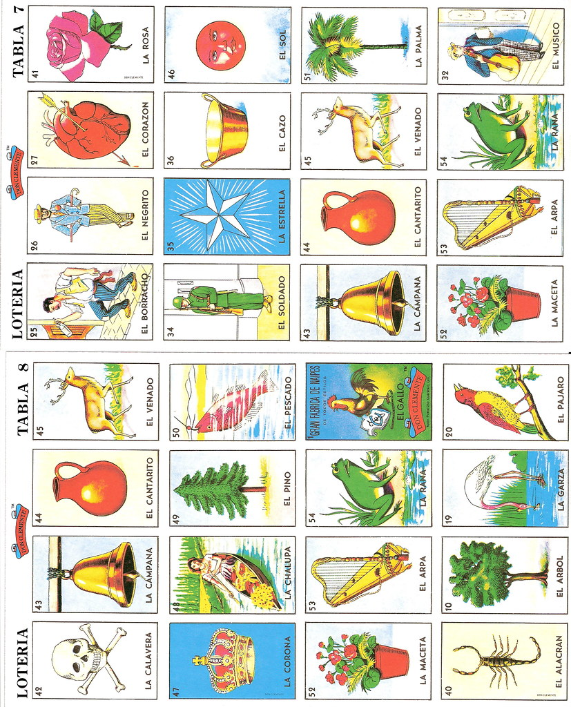 Modest image inside printable loteria cards