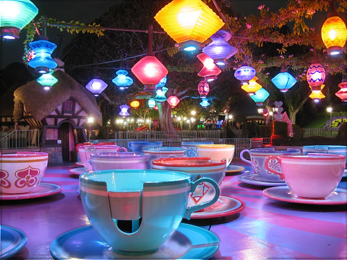 Mad Tea Party after closing, Disneyland Park | This is the ...