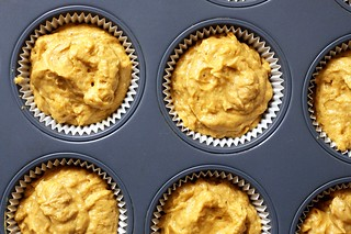 pumpkin cupcake batter | by smitten kitchen