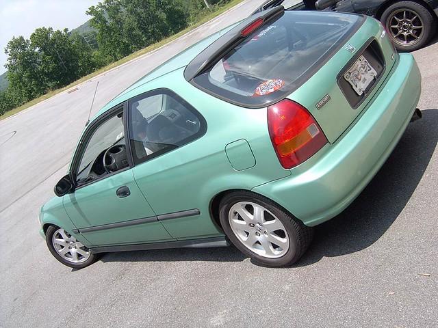 1996 Honda Civic Ek Hatchback On 99 2000 Civic Si Wheels