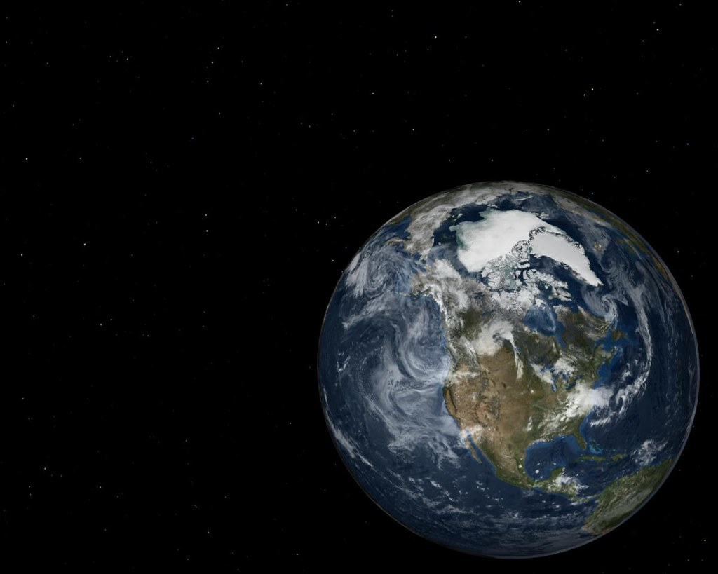Earth Image And Star Field Background Earth Image And