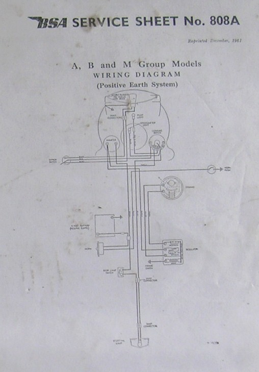 BSA    Wiring       Diagram    A    B      M   Jeff   Flickr